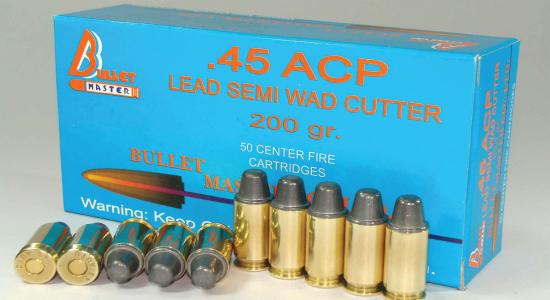 .45 ACP LEAD SEMI WAD CUTTER 200gr