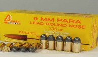 9 MM. PARA LEAD ROUND NOSE 135 gr.