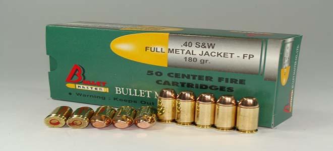.40 S&W SUPER FULL METAL JACKET .FP 180 gr.