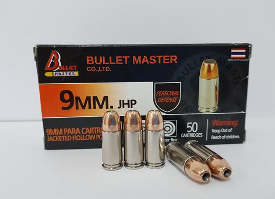 9 mm. JHP 115 gr