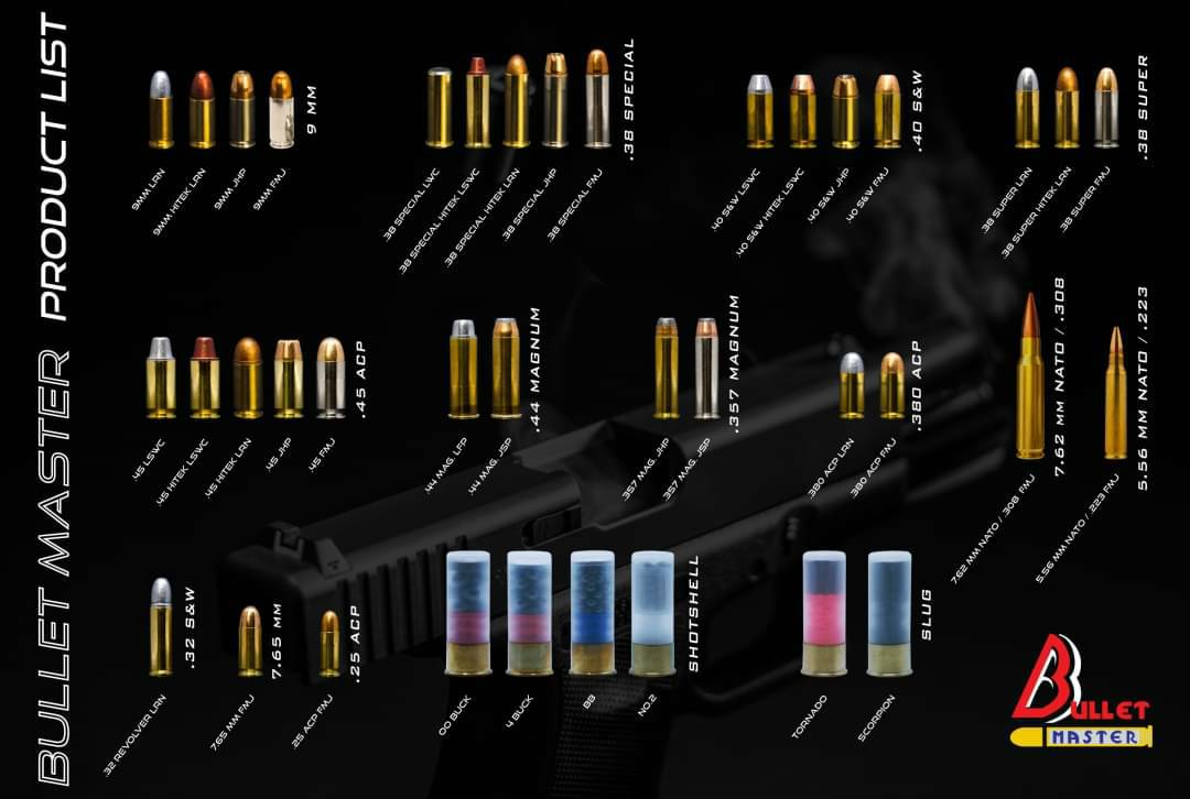 BULLET MASTER PRODUCT LIST