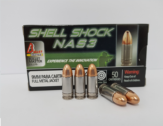 9 mm. FMJ 124 gr. Shell Shock